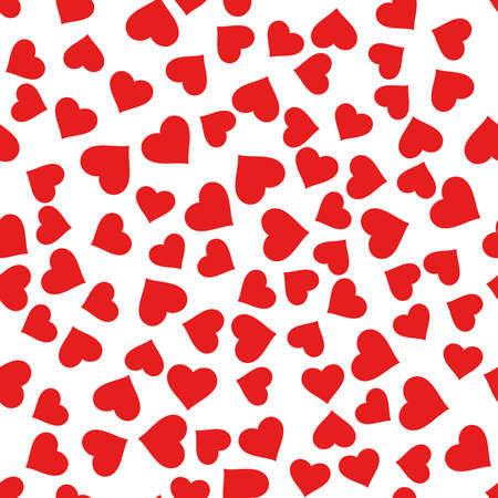 Seamless pattern with hearts. Graphic modern pattern. Red and white background.