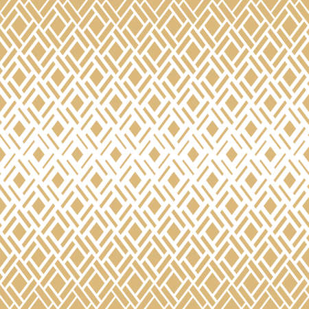 Abstract geometric pattern. seamless background. White and gold halftone. Graphic modern pattern. Simple lattice graphic design Stock Photo