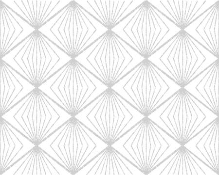 Abstract geometric pattern with squares, rhombuses. A seamless background. Grey and white graphic pattern.