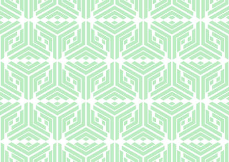 The geometric pattern with stripes . Seamless background. White and green texture. Graphic modern pattern. 免版税图像