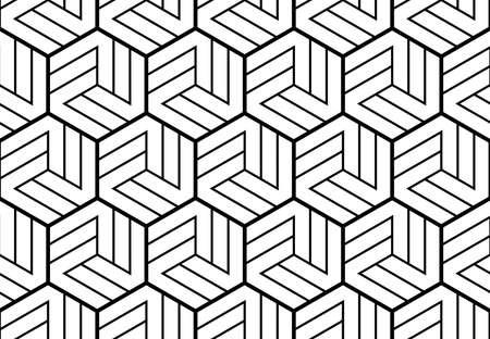 Motivo geometrico astratto con strisce, linee. Sfondo vettoriale senza soluzione di continuità. Ornamento bianco e nero. Design grafico semplice reticolo