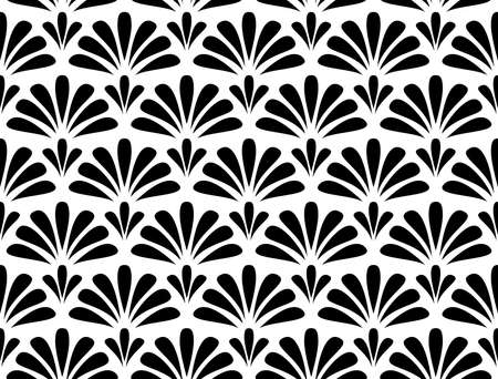 Flower geometric pattern. Seamless vector background. White and black ornament. Ornament for fabric, wallpaper, packaging, Decorative print Ilustracje wektorowe