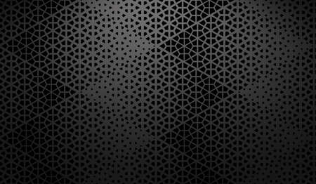 Abstract geometric pattern. A seamless vector background. Black ornament. Graphic modern pattern. Simple lattice graphic design Illustration