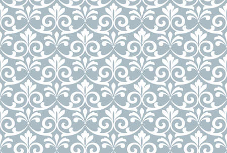 Flower geometric pattern. Seamless vector background. White and blue ornament. Ornament for fabric, wallpaper, packaging, Decorative print Иллюстрация
