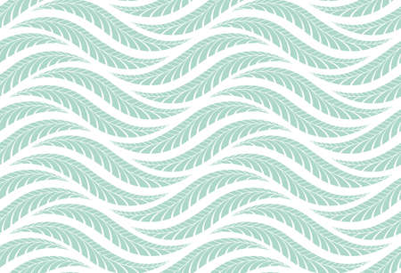 The geometric pattern with wavy lines. Seamless vector background. White and blue texture. Simple lattice graphic design Иллюстрация