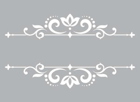 Vintage grey element. Graphic vector design. Damask graphic ornament