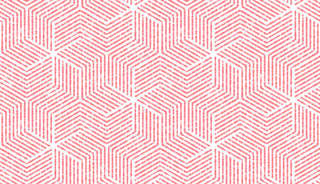 Abstract geometric pattern with stripes, lines. Seamless vector background. White and pink ornament. Simple lattice graphic design Ilustracja