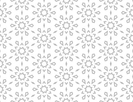 Abstract geometric pattern with lines, snowflakes. A seamless vector background. White and grey texture. Graphic modern pattern