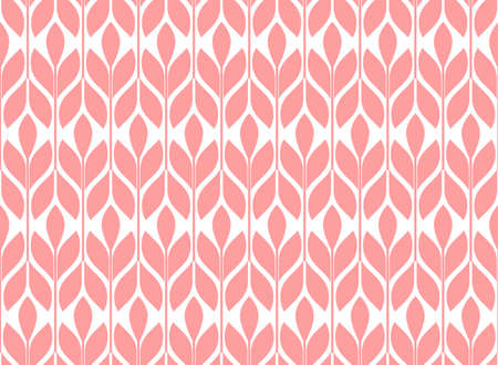 Flower geometric pattern. Seamless background. White and pink ornament. Ornament for fabric, wallpaper, packaging. Decorative print