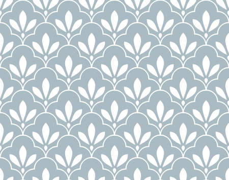 Flower geometric pattern. Seamless background. White and blue ornament. Ornament for fabric, wallpaper, packaging. Decorative print Banque d'images