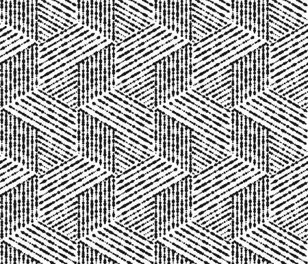 Abstrakcyjny wzór geometryczny w paski, linie. Bezszwowe tło. Biała i czarna ozdoba. Prosty projekt graficzny kraty