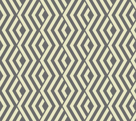 Abstract geometric pattern with stripes, lines. Seamless vector background. Grey ornament. Simple lattice graphic design Ilustracja
