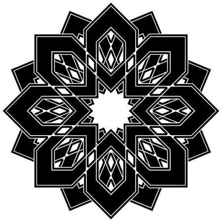 Elegant vector element for design. Geometric black ornament. Lace illustration for invitations and greeting cards Illustration