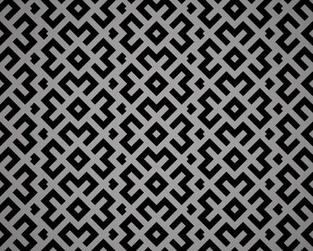 Abstract geometric pattern. A seamless vector background. Black ornament. Graphic modern pattern. Simple lattice graphic design Ilustracja