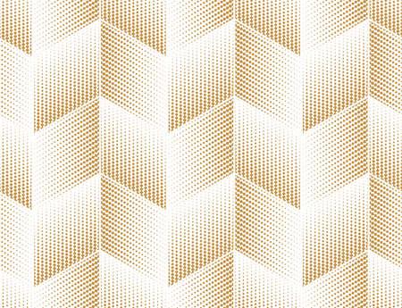 Abstraktes geometrisches Muster. Nahtloser Vektorhintergrund. Weiß und Gold Halbton. Grafisches modernes Muster. Einfaches Gittergrafikdesign Vektorgrafik