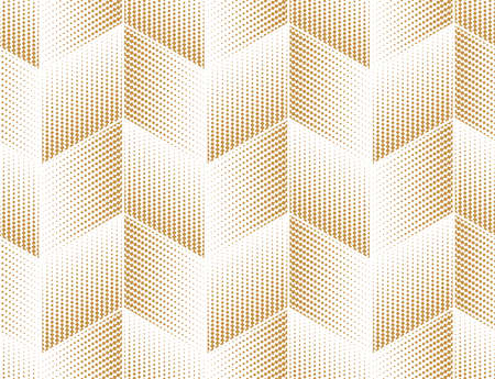 Abstract geometric pattern. Seamless vector background. White and gold halftone. Graphic modern pattern. Simple lattice graphic design