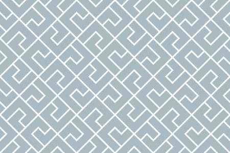 Abstract geometric pattern. A seamless vector background. White and blue ornament. Graphic modern pattern. Simple lattice graphic design Illustration