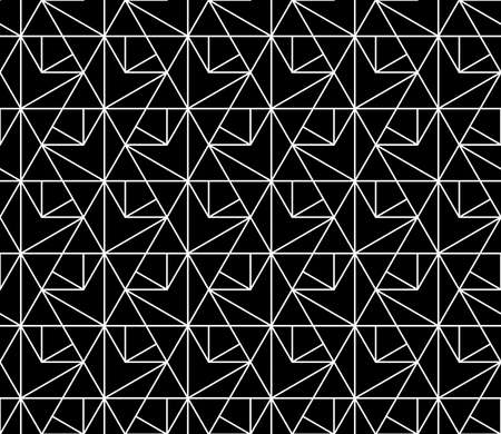 The geometric pattern with lines. Seamless vector background. White and black texture. Graphic modern pattern. Simple lattice graphic design