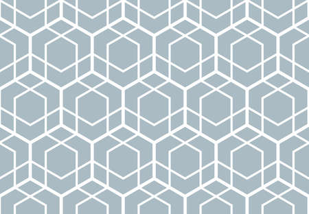 The geometric pattern with lines. Seamless vector background. White and blue texture. Graphic modern pattern. Simple lattice graphic design Ilustracja