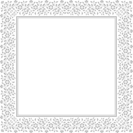Decorative frame Elegant vector element for design in Eastern style, place for text. Floral grey border. Lace illustration for invitations and greeting cards Banque d'images - 129318516