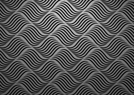 The geometric pattern with wavy lines. Seamless vector background. Black texture. Simple lattice graphic design