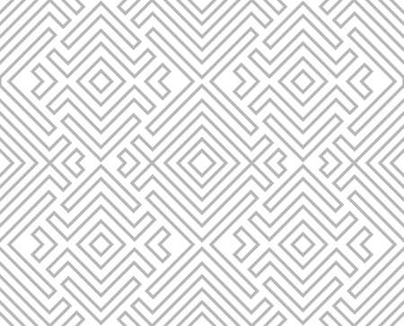 Abstract geometric pattern with stripes, lines. Seamless background. White and grey ornament. Simple lattice graphic design. Stok Fotoğraf