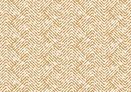 Abstract geometric pattern with stripes, lines. Seamless background. White and gold ornament. Simple lattice graphic design Stok Fotoğraf