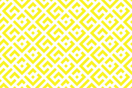 Abstract geometric pattern. A seamless background. White and yellow ornament. Graphic modern pattern. Simple lattice graphic design