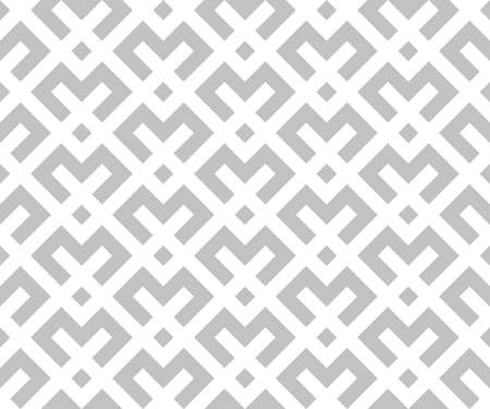 Abstract geometric pattern. A seamless background. White and grey ornament. Graphic modern pattern. Simple lattice graphic design.
