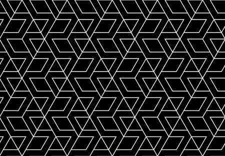 The geometric pattern with lines. Seamless background. Black texture. Graphic modern pattern. Simple lattice graphic design 写真素材