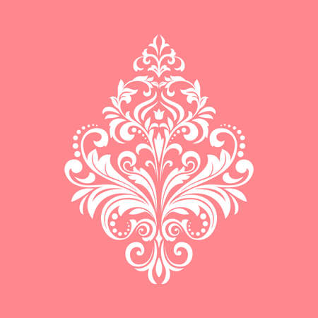 Damask graphic ornament. Floral design element. Pink pattern 写真素材