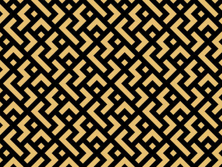 Abstract geometric pattern. A seamless vector background. Gold and black ornament. Graphic modern pattern. Simple lattice graphic design