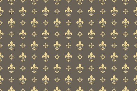 Wallpaper in the style of Baroque. Seamless vector background. Gold and grey floral ornament. Graphic pattern for fabric, wallpaper, packaging. Ornate Damask flower ornament