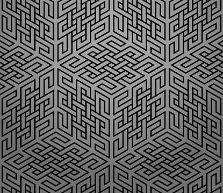 The geometric pattern with lines. Seamless vector background. Black texture. Graphic modern pattern. Simple lattice graphic design  イラスト・ベクター素材