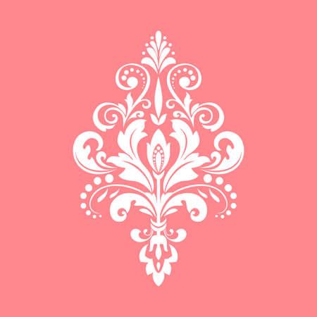 Damask graphic ornament. Floral design element. Pink pattern 写真素材