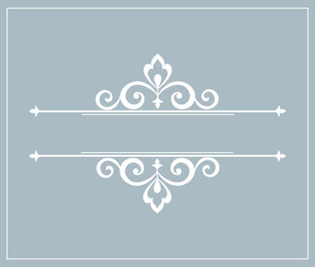 Vintage blue element. Graphic vector design. Damask graphic ornament Stockfoto - 131892983