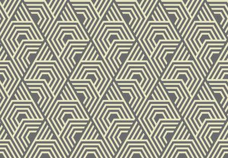Abstract geometric pattern with stripes, lines. Seamless vector background. Grey ornament. Simple lattice graphic design Illusztráció