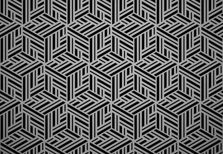Abstract geometric pattern with stripes, lines. Seamless vector background. Black ornament. Simple lattice graphic design Иллюстрация