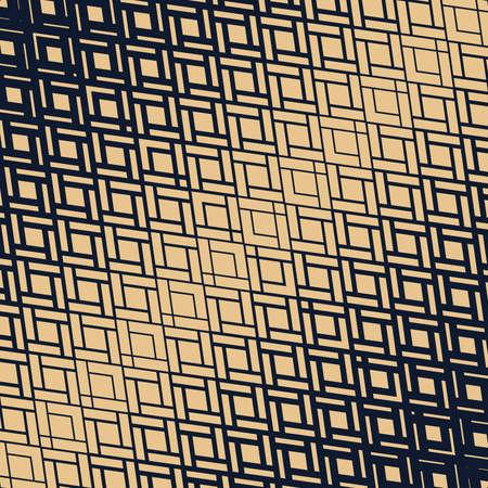 Abstract geometric pattern. Modern vector background. Gold and dark blue halftone. Graphic modern pattern. Simple lattice graphic design Иллюстрация