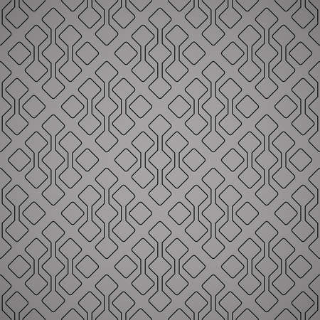 Abstract geometric pattern. A seamless background. Black and grey ornament. Graphic modern pattern. Simple lattice graphic design Фото со стока