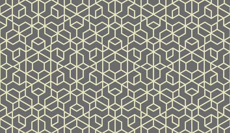 Abstract geometric pattern. A seamless background. Grey ornament. Graphic modern pattern. Simple lattice graphic design Фото со стока