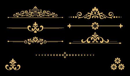 Ensemble vintage. Éléments floraux pour la conception de monogrammes, invitations, cadres, menus et étiquettes. Conception graphique du site Internet, cafés, boutiques, hôtels, invitations de mariage.