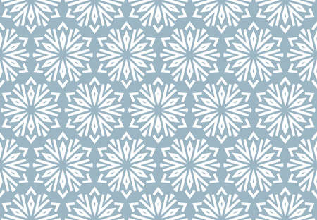Abstract geometric pattern with lines, snowflakes. A seamless vector background. White and blue texture. Graphic modern pattern Stock Illustratie