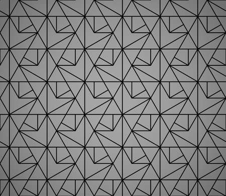The geometric pattern with lines. Seamless vector background. Black texture. Graphic modern pattern. Simple lattice graphic design 向量圖像