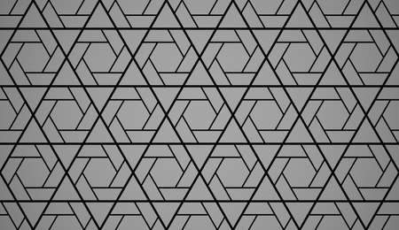 The geometric pattern with lines. Seamless vector background. Black and grey texture. Graphic modern pattern. Simple lattice graphic design