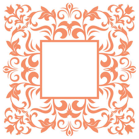 Abstract floral pattern. Vector seamless background. Perfect for invitations or announcements. Illustration