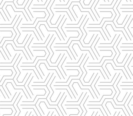 Abstract geometric pattern with stripes, lines. Seamless background. White and grey ornament. Simple lattice graphic design. Zdjęcie Seryjne