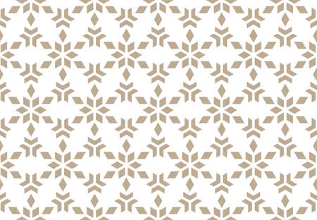 Abstract geometric pattern. A seamless background. White and beige ornament. Graphic modern pattern. Simple lattice graphic design