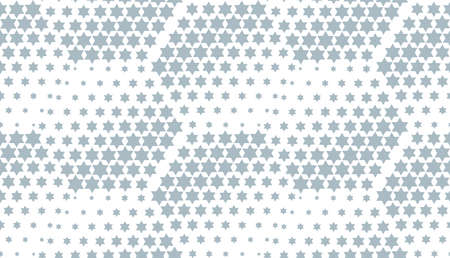 Abstract geometric pattern with stars. Seamless background. White and blue halftone. Graphic modern pattern. Simple lattice graphic design