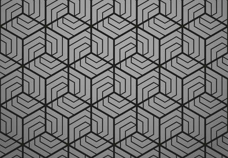 Abstract geometric pattern with stripes, lines. Seamless background. Black ornament. Simple lattice graphic design
